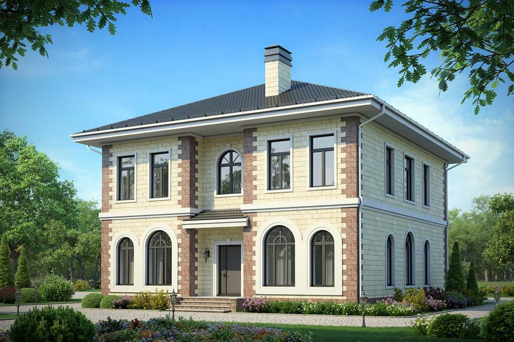 Проекты фото домов двухэтажные из блоков